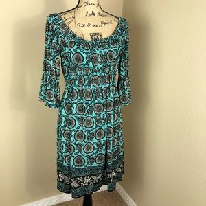 Max Edition Turquoise Stretch Jersey Dress M